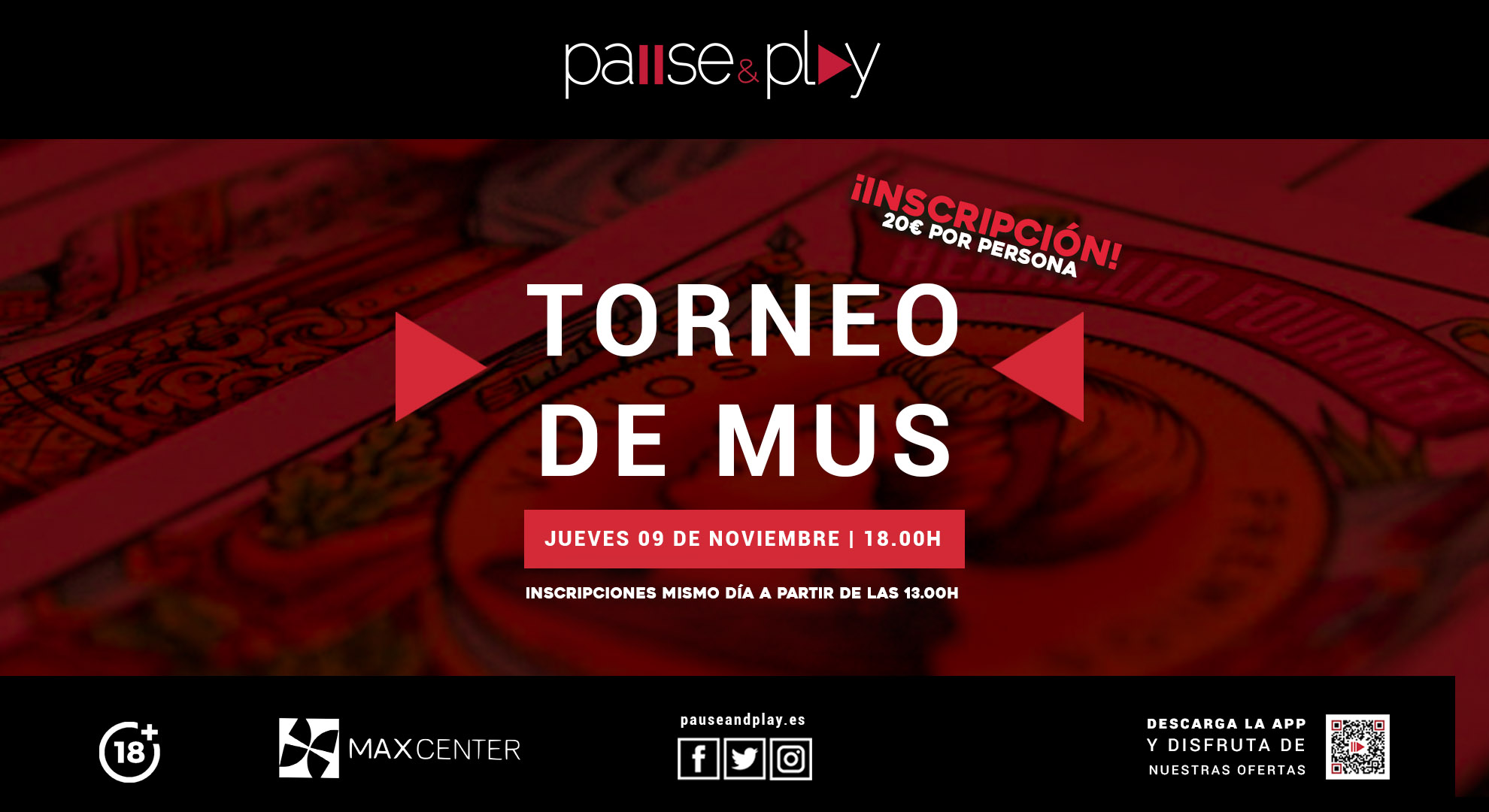 PAUSE&PLAY MAXCENTER